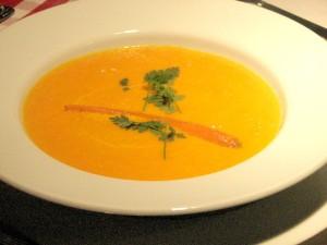 velouté de carottes au poivre