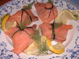 aumoniere de saumon