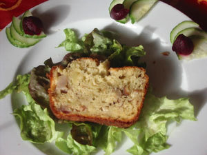 cake roquefort noisette