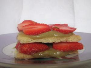 millefeuille rhubarbe fraise