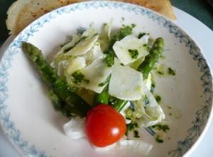 salade asperge parmesan