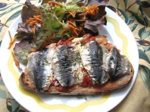 tartine corse aux sardines