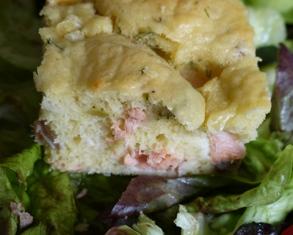gâteau moelleux au saumon