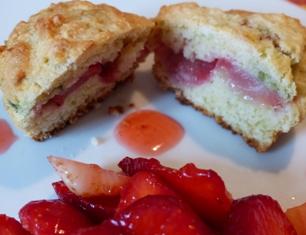 muffin fraise pistache