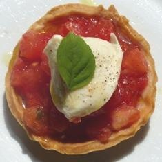 tartelette à la fondue de tomates