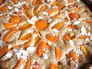 crème d'amandes aux abricots