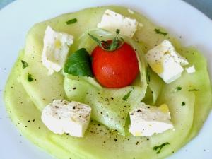 salade melon, concombre et feta