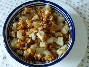 Risotto de c leri au petit peautre cvouslechef le blog - Cuisiner le petit epeautre ...