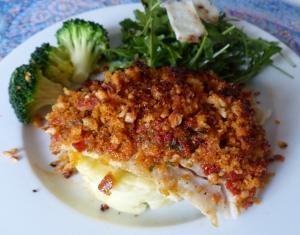 poisson au pesto tomates séchées