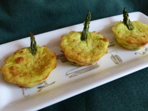 mini flans asperges parmesan